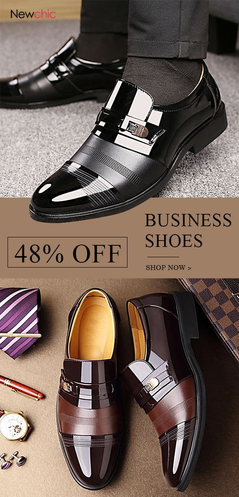Business shoes, dress shoes and stylish formal shoes gathered here for matching ideas of formal and casual smart outfits. Shop Newchic.com to find out more men's formal outfits idea. #mens #formal #casualsmart #fashion #style #mensshoes