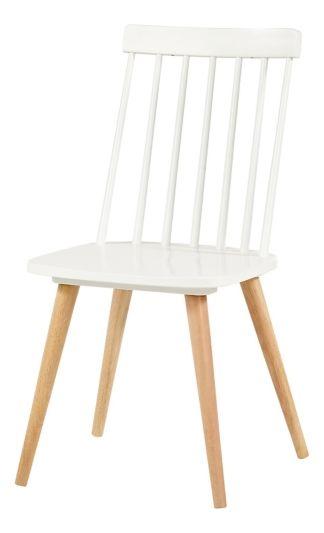 chaise ines blanc naturel table et