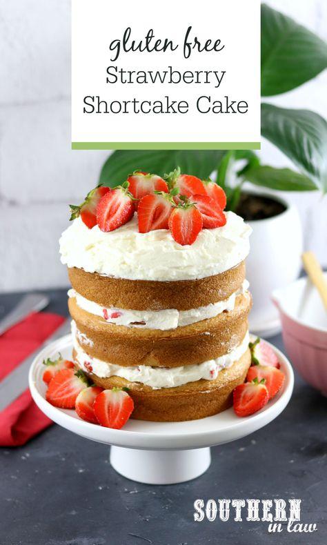 Astonishing Gluten Free Strawberry Shortcake Birthday Cake With Whipped Cream Personalised Birthday Cards Cominlily Jamesorg