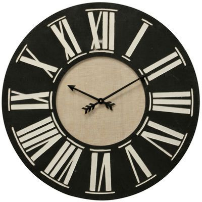This Vintage Inspired Wall Clock Is Made Using A Combination Of Iron For A Cool Farmhouse Look It S Designed Around A C Wood Wall Clock Wall Clock Wood Clocks