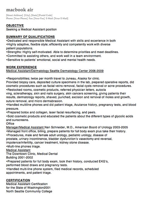 Clerk Typist Resume Sample -    resumesdesign clerk-typist - medical assistant dermatology resume