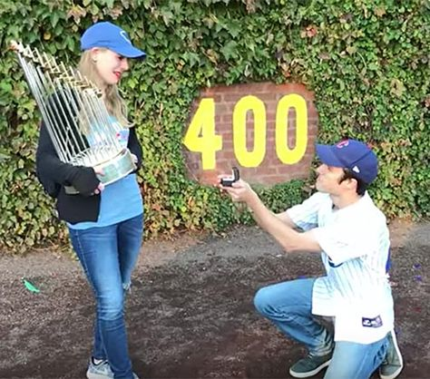 Marriage proposal world series