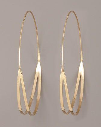 Flirt Hoop Earrings by Lana at Neiman Marcus.