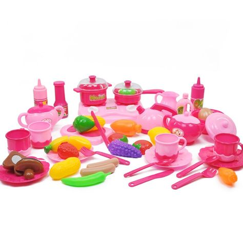 #44pcs/set #kitchen #baby #toys #fruit #vegetables #squishy #food #kids #set #furniture #girls #kt9 #new #birthday #gifts #pretend #play