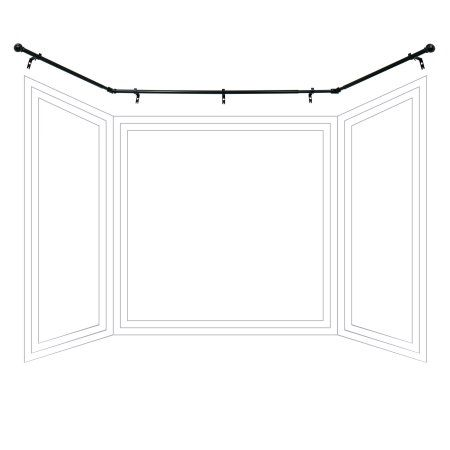 Better Homes And Gardens Bay Window Adjustable Drapery Rod Set In