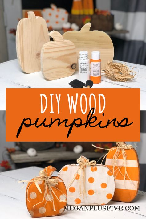DIY CRAFT KIT how to paint your standing wood pumpkin cut outs. This craft is perfect for you to DIY for your rustic fall decor. decor diy crafts DIY CRAFT KIT, how to paint your wood pumpkin cut outs to complete your rustic fall decor — Megan plus FIVE Halloween Crafts, Holiday Crafts, Diy Halloween Decorations, Diy Fall Crafts, Harvest Decorations, Fall Decorations For Outside, Fall Decorating Outside, Primitive Fall Decorating, Dollar Tree Halloween Decor