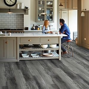 9 Wide 8mm Thick 60 Long Boards Float Installation Wpc Highland Gray Color Lifeti Waterproof Vinyl Plank Flooring Vinyl Plank Grey Vinyl Plank Flooring