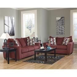 Rent To Own Living Room Furniture Premier Rental Purchase Located In Dayton Signature Furni Burgundy Living Room Living Room Color Schemes Living Room Color