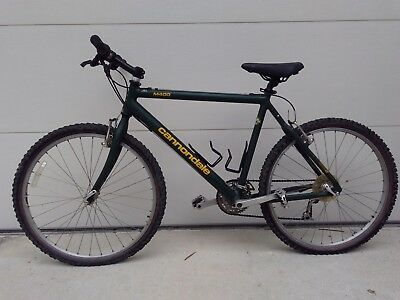 Vintage Cannondale Series M400 Green Yellow 20 Frame 24 Tires Road Bike Road Bike Tires Vintage Mountain Bike Cannondale Mountain Bikes