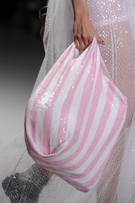Pink striped bag #Ashish #Details S/S '14 stripes bag pinstripes print accessories ss