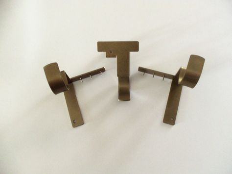 Three Piece Set Of Kwik Hang Curtain Rod Brackets No Nails Or
