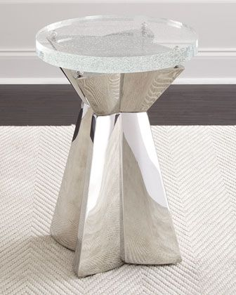 Bernhardt Anika Round Chairside Table Chair Side Table Glass