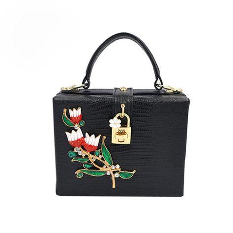 Fair price Hot Small Flowers Trunk Women Shoulder Bags Handbags ... 5949c86d27635