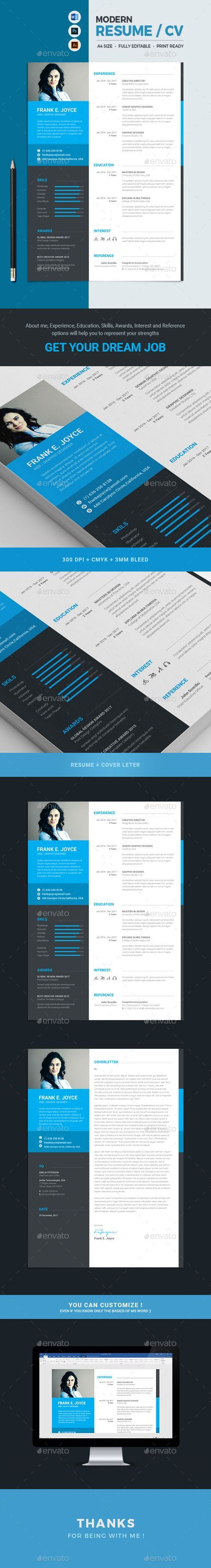Free Download This Modern, Clean and Minimal Resume with strong