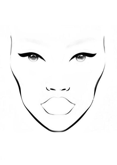 Mac Inspired Face Chart Blank Printable Colorimetria