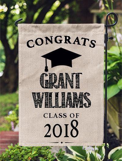 Graduation Sign Congrats Grad Garden