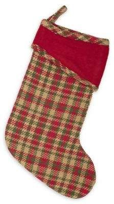 Bed Bath And Beyond Christmas Stockings.Bed Bath Beyond 15 Inch Claren Christmas Stocking In Red