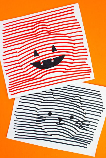 3d Optical Illusion Halloween Drawings Halloween Drawings Halloween Art Projects Cool Art Projects