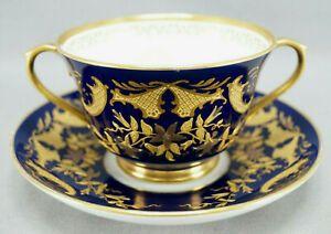 Cauldon Demitasse Cup /& Saucer with Raised Gold Decoration
