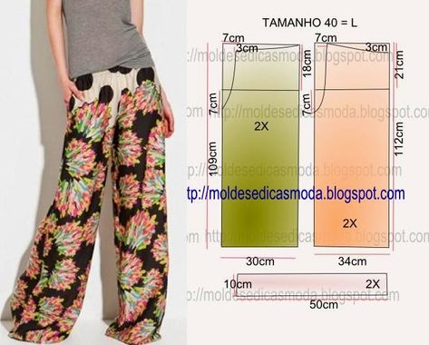 Palazzo Pants Pattern … I don't think these are my best look for preggo… – Moldes Moda