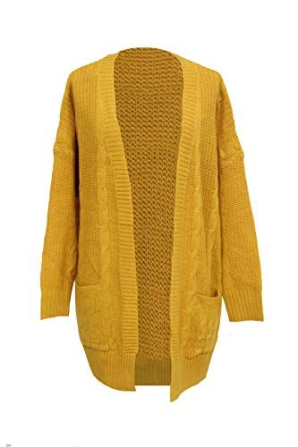 SHEKINI Damen Casual Open Front Strickjacke Langarm Pullover