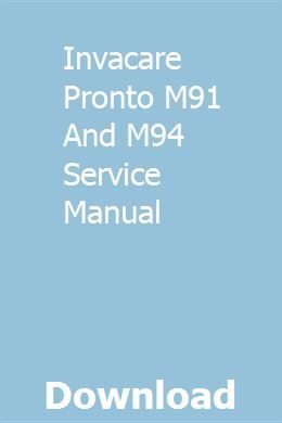 Invacare Pronto M91 And M94 Service Manual | adedcalo