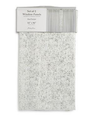 54x96 Set Of 2 Milo Linen Look Curtains Biggest Savings T J