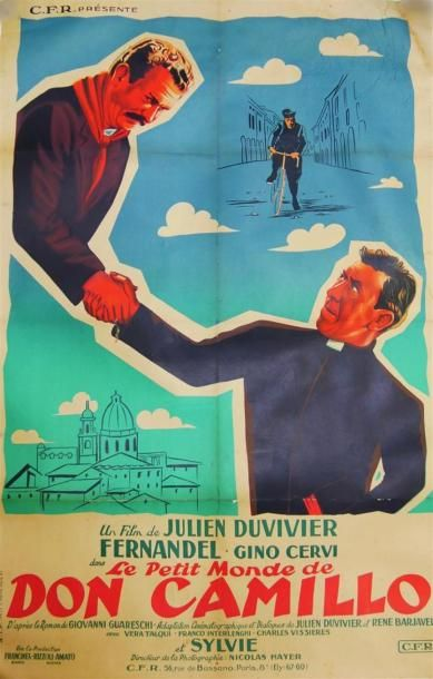 Affiche De Cinema Le Petit Monde De Don Camillo Film De Julien Duvivier Avec Fernandel Et Gino Cervi S I P 18 Affiche Cinema Affiche Film Affiche De Film