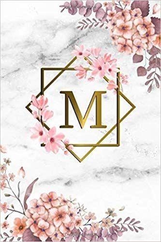Monogram M Blue Flowers And Folliage Sticker By Floralmonogram In 2021 Blue Flowers Monogram Wallpaper Monogram