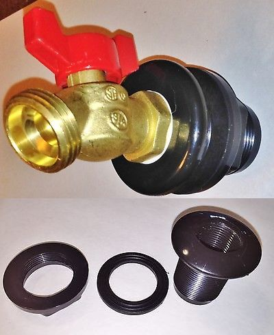 Valves 75673 Rain Barrel Faucet Spigot Bibe Brass 1 4 Turn Valve 55 Gn Water Tank W Bulkhead Buy It Now Only 15 99 On Ebay Rain Barrel Water Tank Faucet