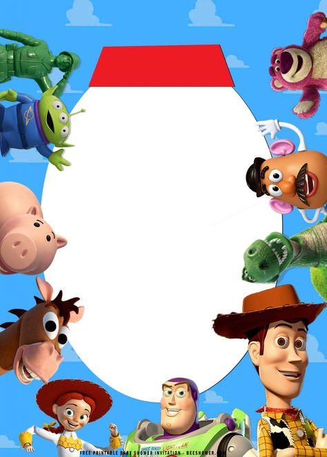 (FREE Printable) – Toy Story Birthday Invitation Templates   FREE Printable Baby Shower Invitations Templates