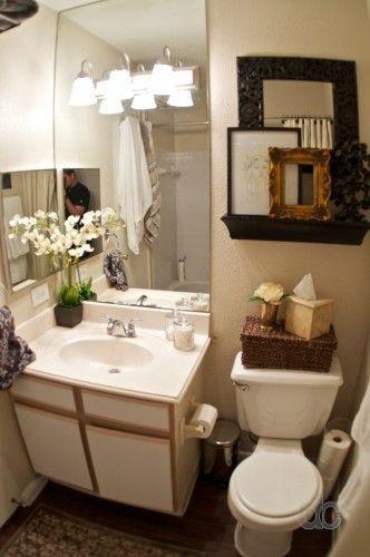 45 Small Apartment Bathroom Decor Ideas Di 2020 Rumah Impian