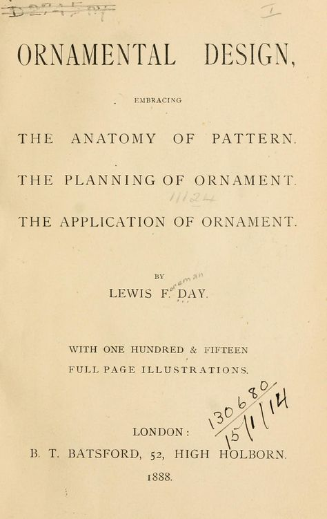 Ornamental design, embracing The Anatomy of pattern : The planning ...