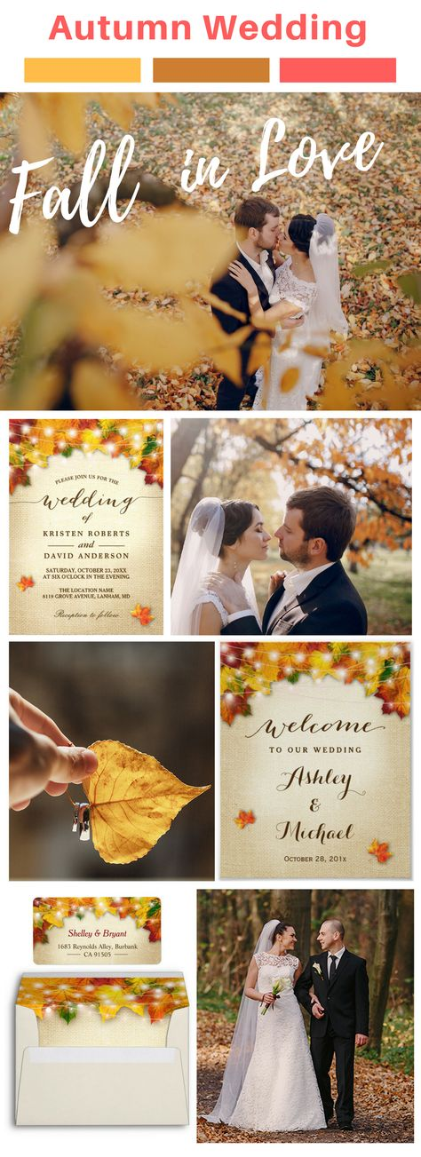 2171 best Fall Wedding Invitations images on