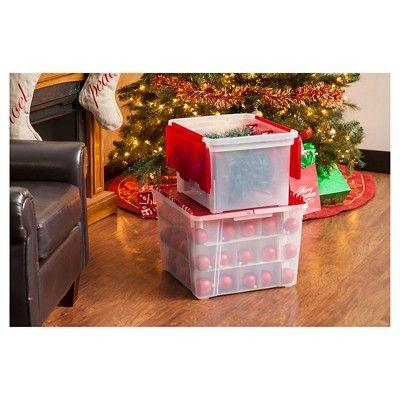 Iris Christmas Light Storage Box With 4 Light Wraps Red Christmas Lights Decor Christmas