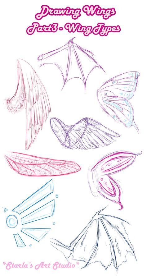How to draw Types Wings Starlas Art Studio art Anime art Art Draw starla Starlas Studio Types Wings Anime Drawings Sketches, Cute Drawings, Pencil Drawings, Hipster Drawings, Random Drawings, Body Sketches, Fantasy Drawings, Dress Sketches, Anime Sketch
