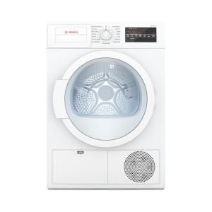 Bosch 300 Series 24 In 4 Cu Ft White Electric Condensation Compact Dryer Wtg86400uc The Home Depot In 2020 Compact Dryer Compact Washer Electric Dryers