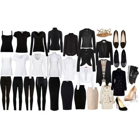 Looks a lot like my closet....all black. Lol