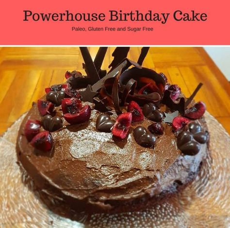 Incredible Powerhouse Cacao Birthday Cake Recipe Gluten Free Birthday Funny Birthday Cards Online Inifofree Goldxyz