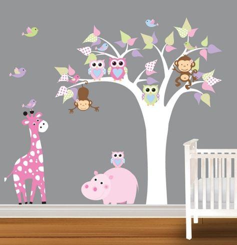 décoration chambre bébé originale sur le thème hibou
