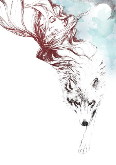 Dreaming about wolves Art Print