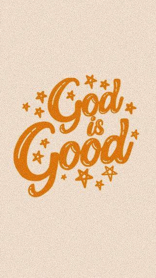 God Is Good Minimalist Lettering Design Sticker By Lexie Pitzen