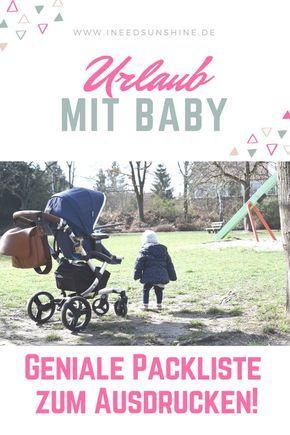 Checkliste Urlaub Mit Baby Pdf Vorlage Zum Ausdrucken Urlaub