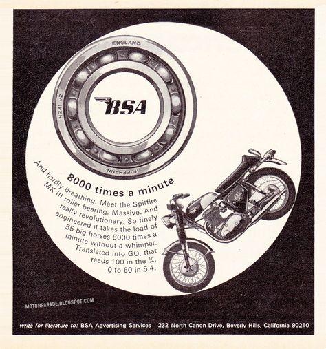 BSA Bantam model D7 quality metal sign