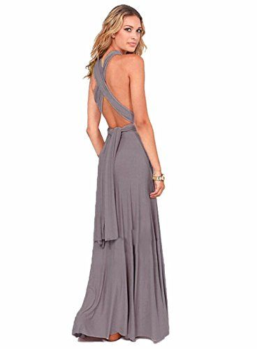 new style aeb88 18817 Infinity Kleid Ballkleid Brautjungfernkleid Gr. 34-42 grau ...