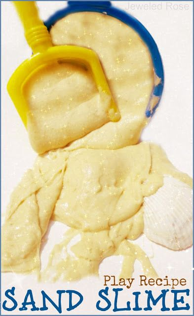 Sand Slime Play Recipe - Pinned by @PediaStaff – Please Visit ht.ly/63sNtfor all our pediatric therapy pins
