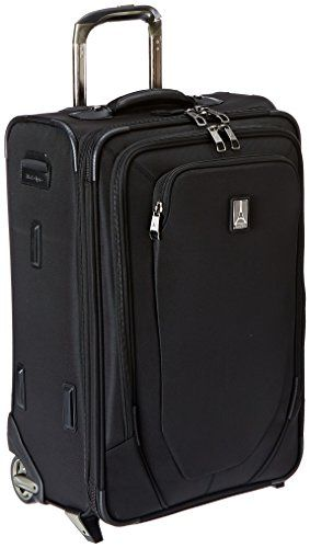 Black Travelpro Crew 10 22 Inch Expandable Rollaboard Suiter One Size