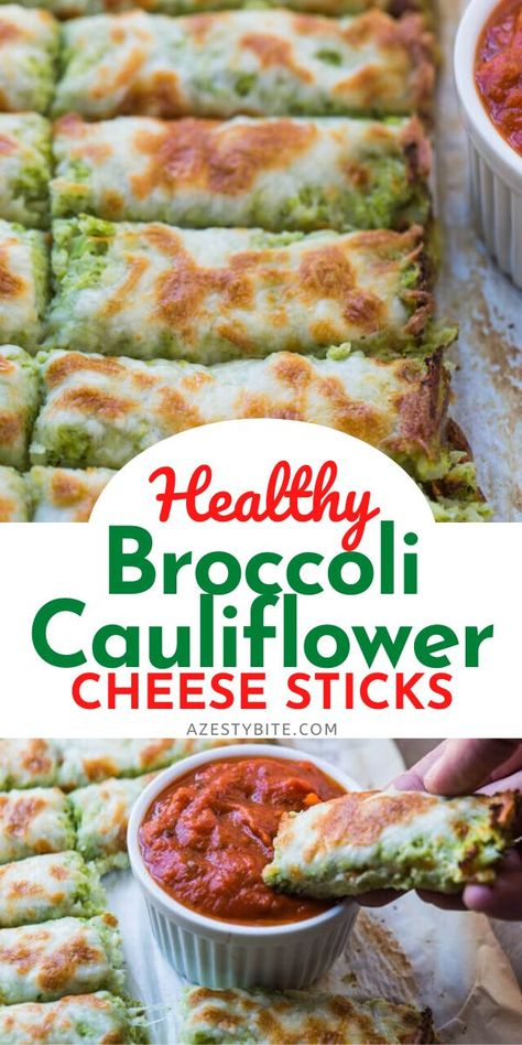These healthy Broccoli Cauliflower Cheese Sticks are the perfect addition to your meal as an appetizer or side dish. They are a great way to incorporate vegetables. Good Healthy Recipes, Healthy Meal Prep, Healthy Cooking, Vegetarian Recipes, Healthy Broccoli Recipes, Broccoli Cauliflower Recipes, Healthy Snacks Vegetables, Healthy Food For Dinner, Eating Healthy