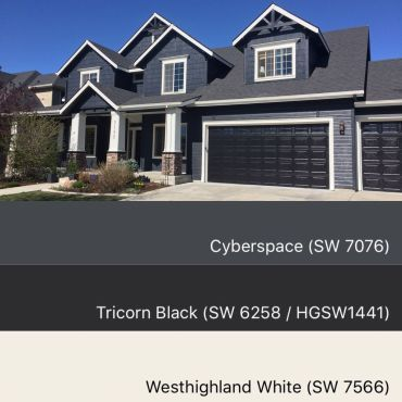 42 Sherwin Williams Cyberspace Paint Color 13 House Paint Exterior Exterior Paint Colors For House Gray House Exterior