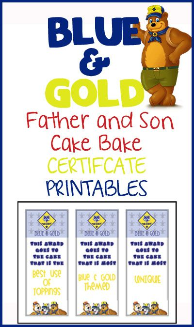 Blue \ Gold Cake Bake Certificates and Sign-In Sheet FREE - sign in sheet